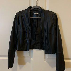 Faux Leather Crop Moto Jacket